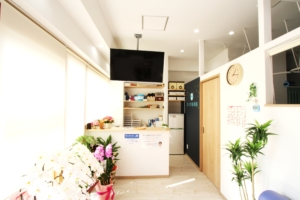 神戸市須磨区はくの接骨院 待合室