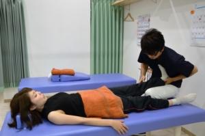 須磨区鷹取はくの接骨院 下腿の施術
