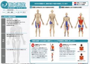 須磨区鷹取はくの接骨院 筋肉測定